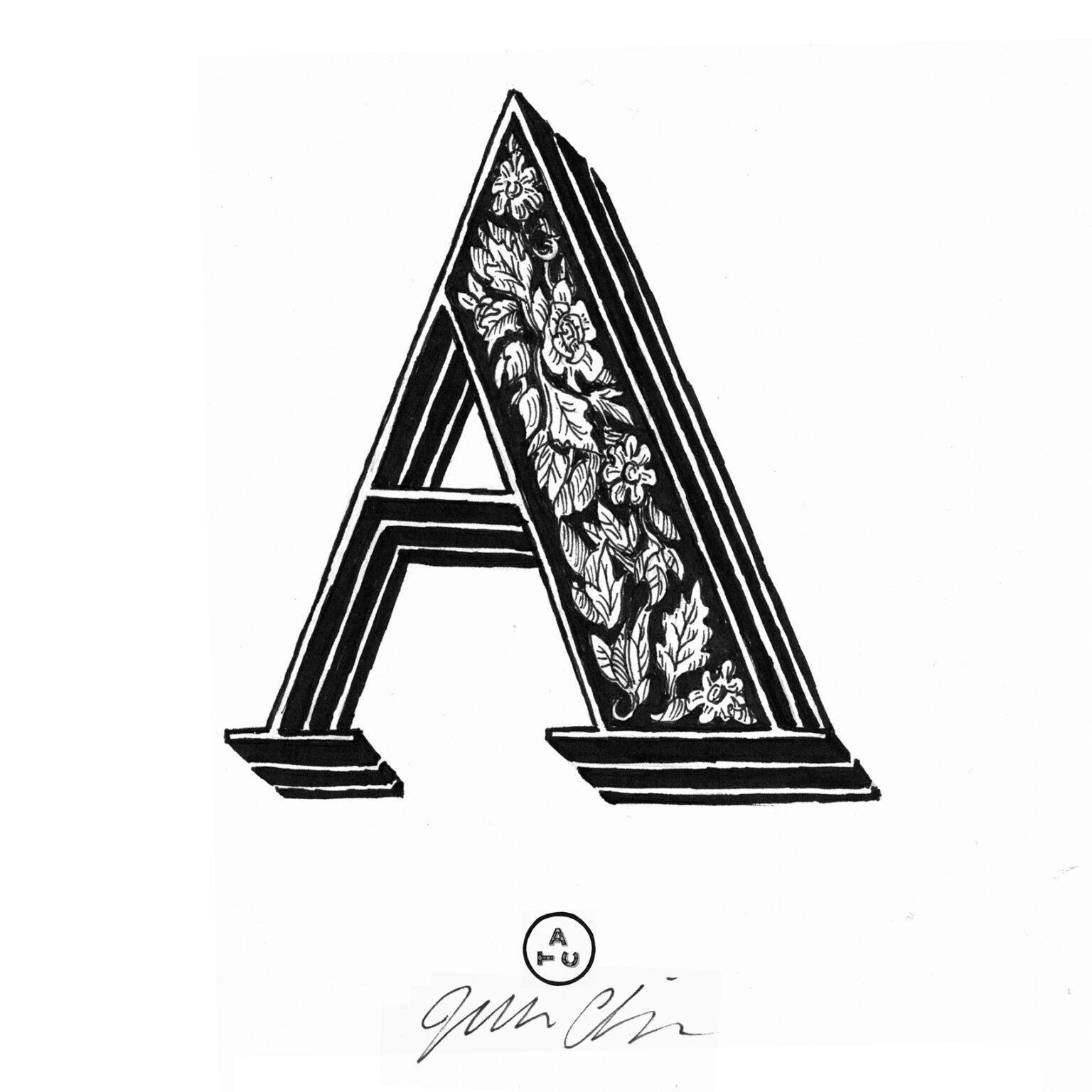ATC Artist Series Joseph Alessio Letter A