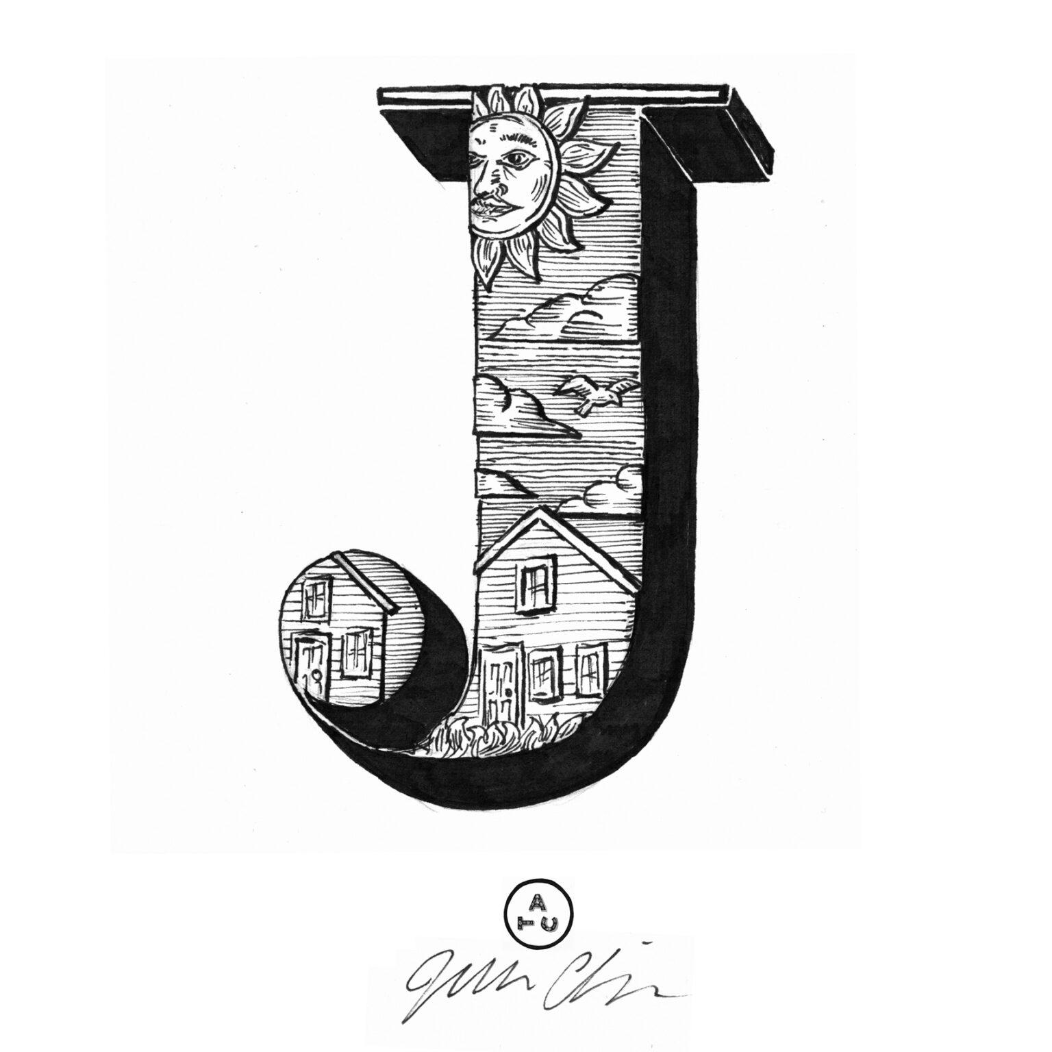 ATC Artist Series Joseph Alessio Letter J