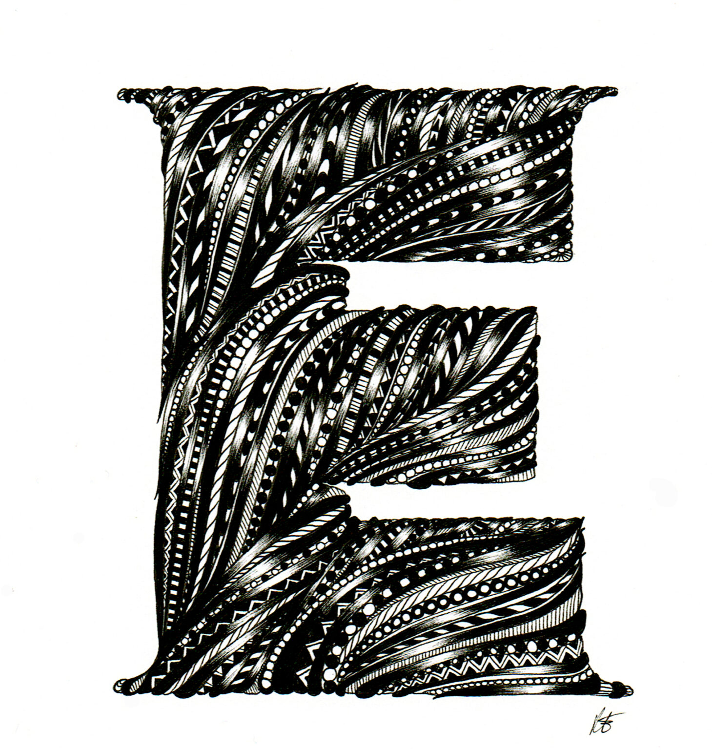 ATC Artist Series Rachael Elwell Letter E