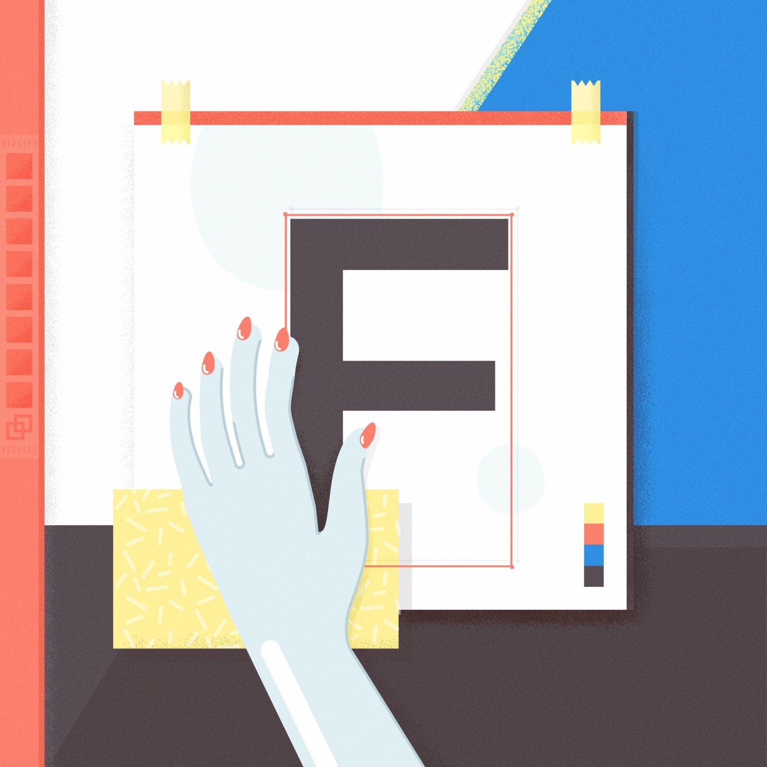ATC Artist Series Frederique Matti Letter F