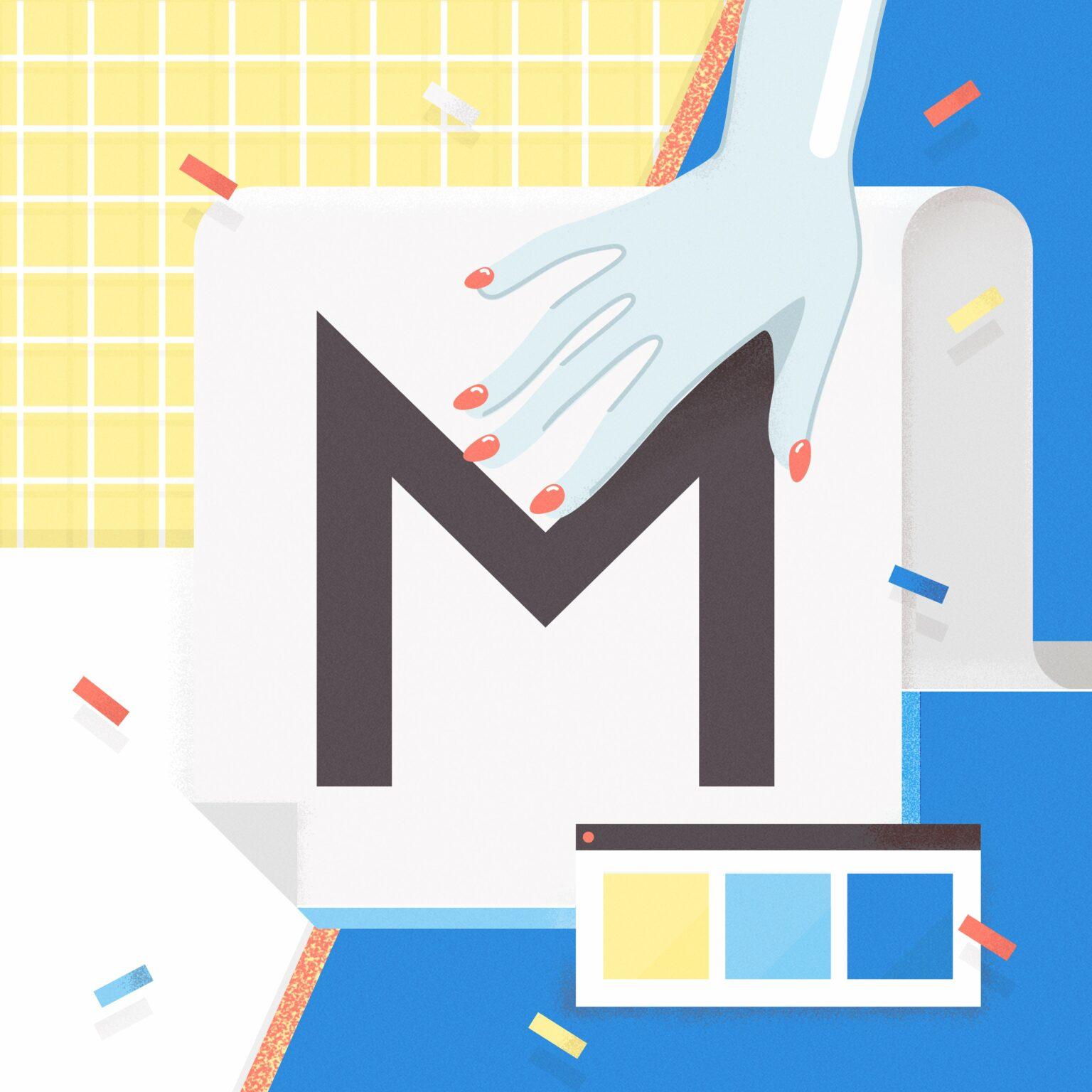 ATC Artist Series Frederique Matti Letter M