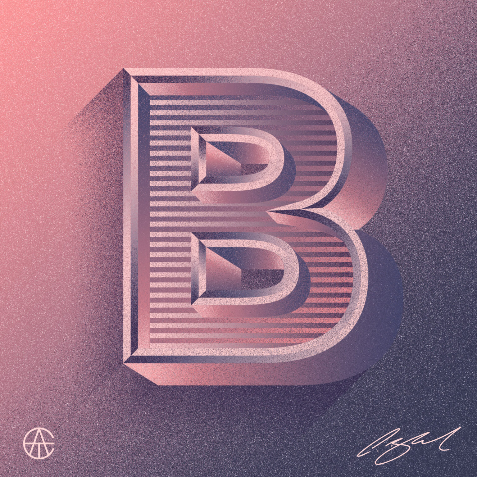 ATC Artist Series Craig Black Letter B