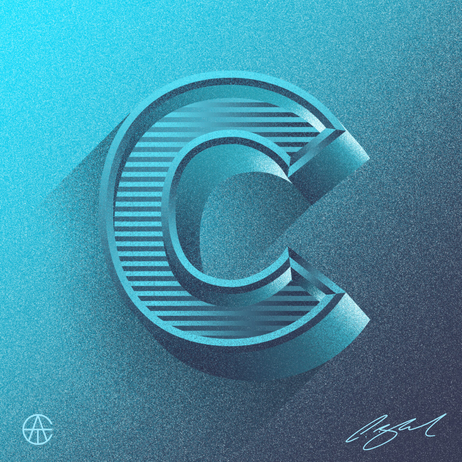 ATC Artist Series Craig Black Letter C