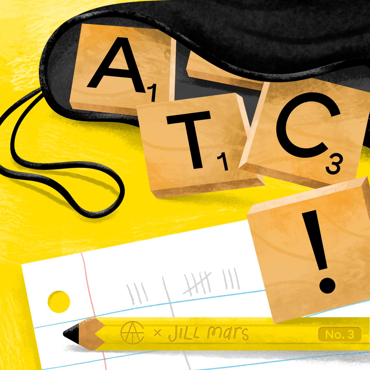 ATC Artist Series Jillian Marsala Letter Logo