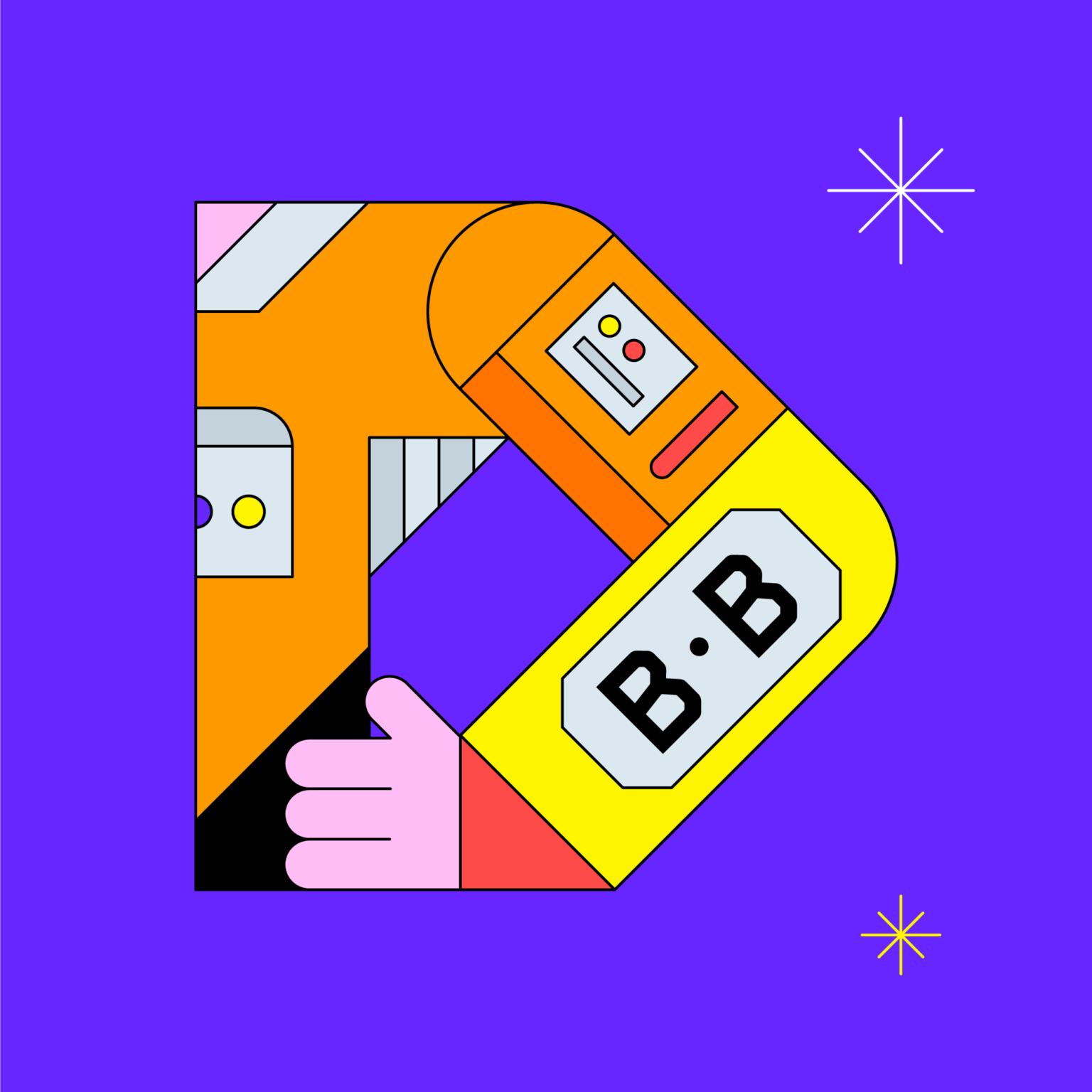 ATC Artist Series Ben Boothman Letter B