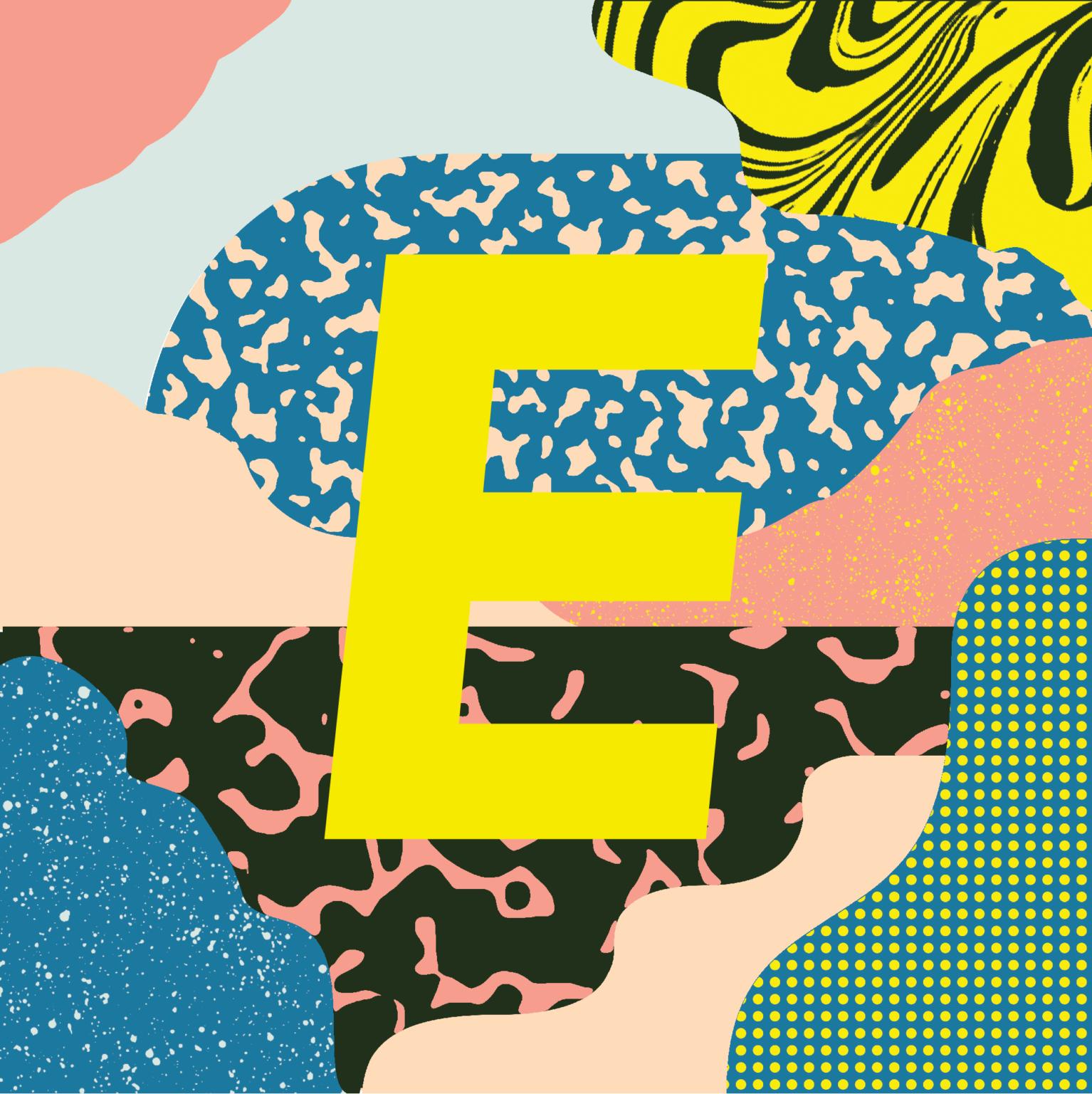 ATC Artist Series Elena Boils Letter E