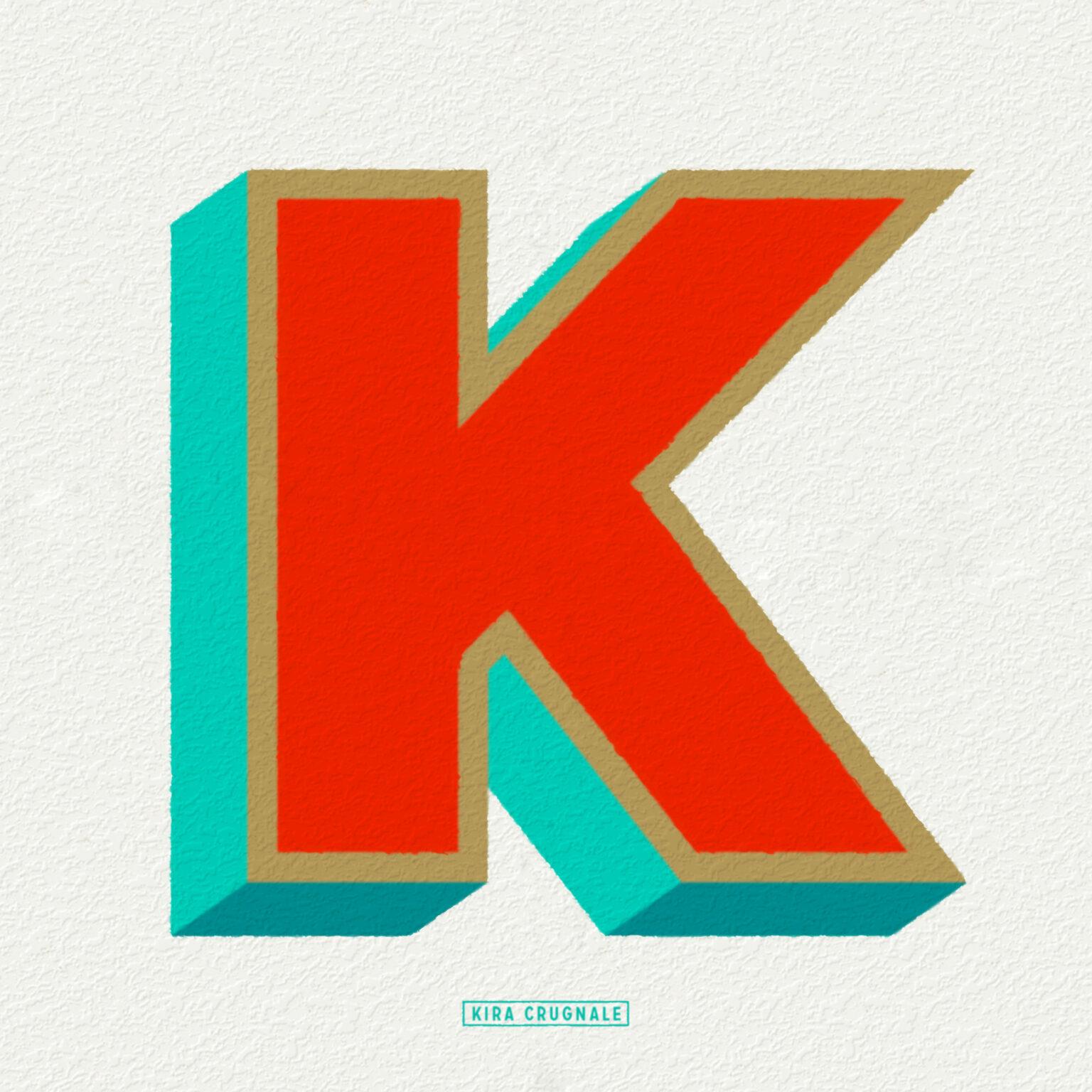 ATC Artist Series Kira Crugnale Letter K